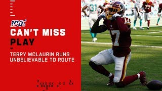 Terry McLaurin Runs Unbelievable Route for 25-Yd TD