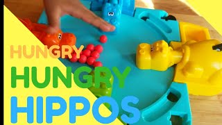 Family Fun Games For Kids Hungry Hungry Hippo Toddlers Playing With Toy Animals| Toys Reviews