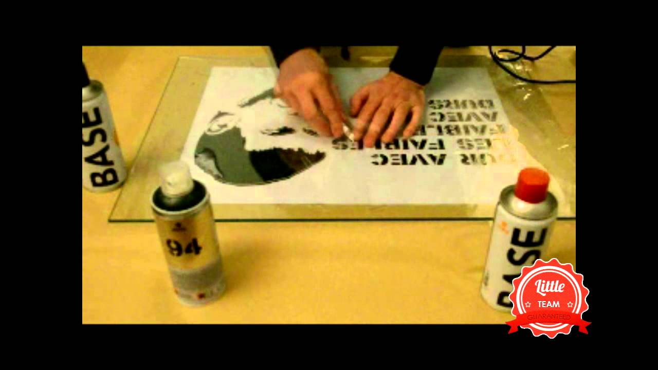 leon n1 comment faire un pochoir youtube - Comment Fabriquer Un Pochoir Peinture