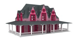 Fairytale Villa Laser Cutting Pattern Plans Doll House