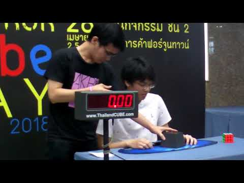 3x3 8.51 Official Average / Final Round @ Bangkok Cube Day Summer 2018