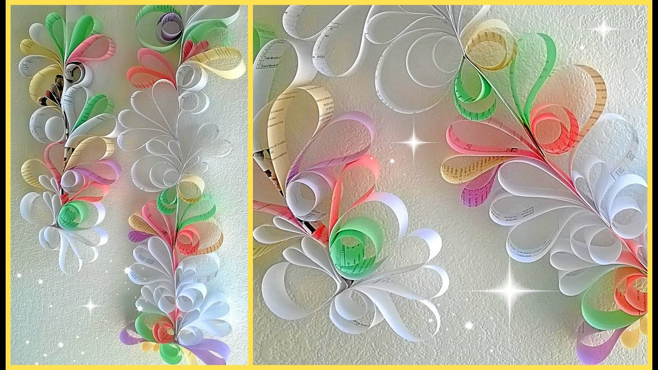 Room Decorating With Paper Paper Swirls Room Decoration Diy Youtube