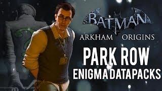 Batman Arkham Origins - Park Row - All Enigma Datapacks / Extortion Files Locations