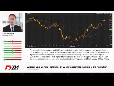 Forex News: 28/08/2018 - Dollar slips on US and Mexico trade deal; euro at one-month high