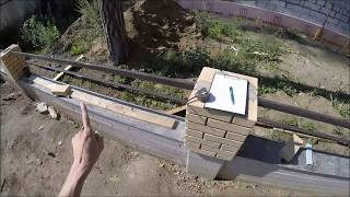Снятие размеров для изготовления парапетов и крышек столбов забора. Забор ч 61.
