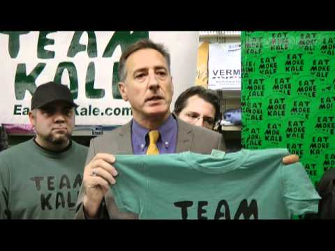 Gov. Shumlin Sends Chick-fil-A a Message for Eat More Kale
