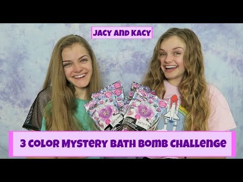 3 Color Mystery Bath Bomb Challenge ~ Jacy and Kacy