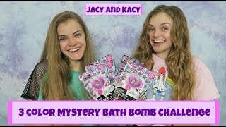 3 Color Mystery Bath Bomb Challenge ~ Jacy and Kacy