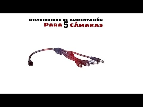 Video de Distribuidor de Alimentacion para 5 Camaras 0.30 M Negro