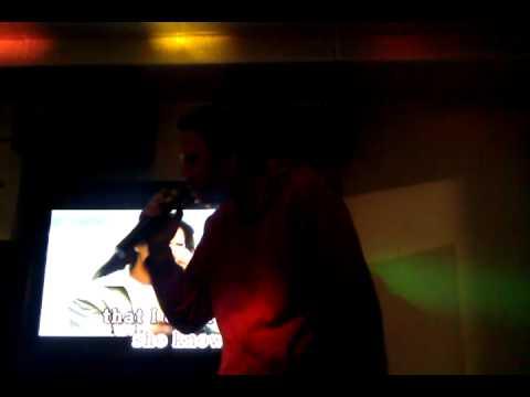 Steffen sings @ Shin Hair Salon Karaoke