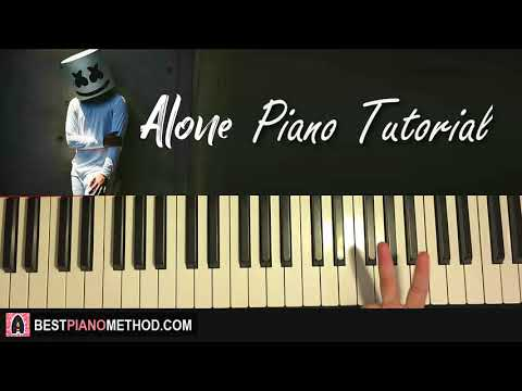 HOW TO PLAY – Marshmello – Alone (Piano Tutorial Lesson)