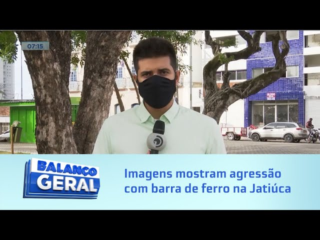 Flagrante: Imagens mostram agressão com barra de ferro na Jatiúca; suspeito foi preso