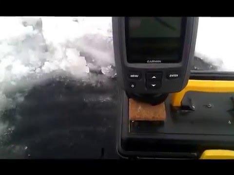 Тест эхолота Garmin Echo 151 зимой