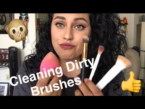 How I Clean My Makeup Brushes & Sponges