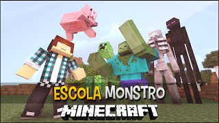 Minecraft Escola Monstro #02 -Competição Entre Monstros Mutantes !!  Monster School