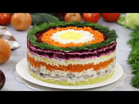 СЛОЁНЫЙ САЛАТ СЕЛЁДКА ПОД ШУБОЙ (КЛАССИКА №1) ☆ Russian Herring Under Fur Coat Salad Shuba ☆ Марьяна
