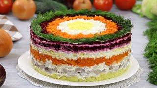 СЛОЁНЫЙ САЛАТ СЕЛЁДКА ПОД ШУБОЙ ☆ Russian Herring Under Fur Coat Salad Shuba ☆ Марьяна