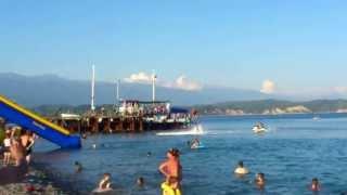Абхазия. Пицунда. Флайборд. Новое развлечение на море.