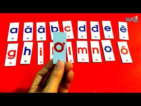 Cách đọc bảng chữ cái tiếng Việt chuẩn   Dạy bé học