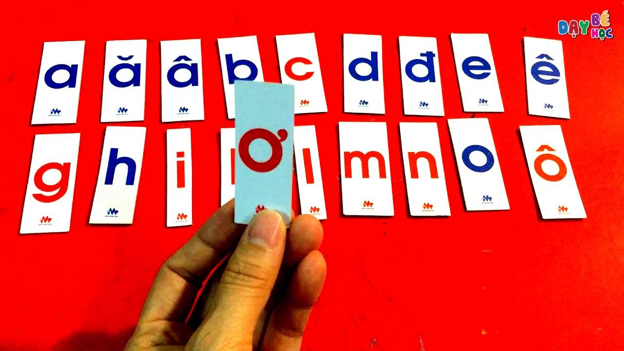 Cách đọc bảng chữ cái tiếng Việt chuẩn | Dạy bé học
