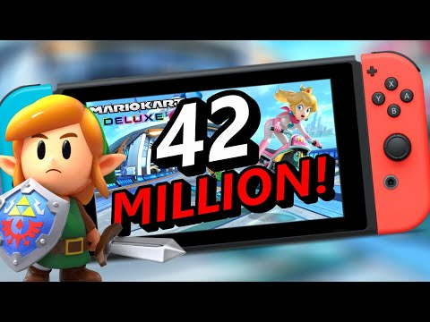 Nintendo Switch Sales Top 42 MILLION! BIG Fire Emblem, Link's Awakening & Mario Kart 8 Sales!