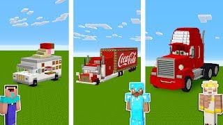 Minecraft NOOB vs PRO vs GOD: TRUCK STATION in Minecraft / Funny Animation