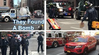 NYPD, FDNY, New York State Police & Federal Agencies Responding & On Scene Of A Dangerous Device