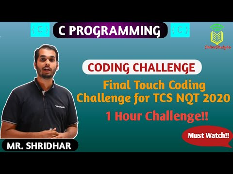 Repeat TCS NQT Coding - Session 2 of 3 - Channel B Tech by
