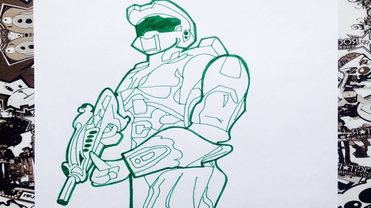 Como dibujar a halo  how to draw halo  YouTube