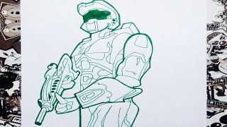Como dibujar a halo | how to draw halo