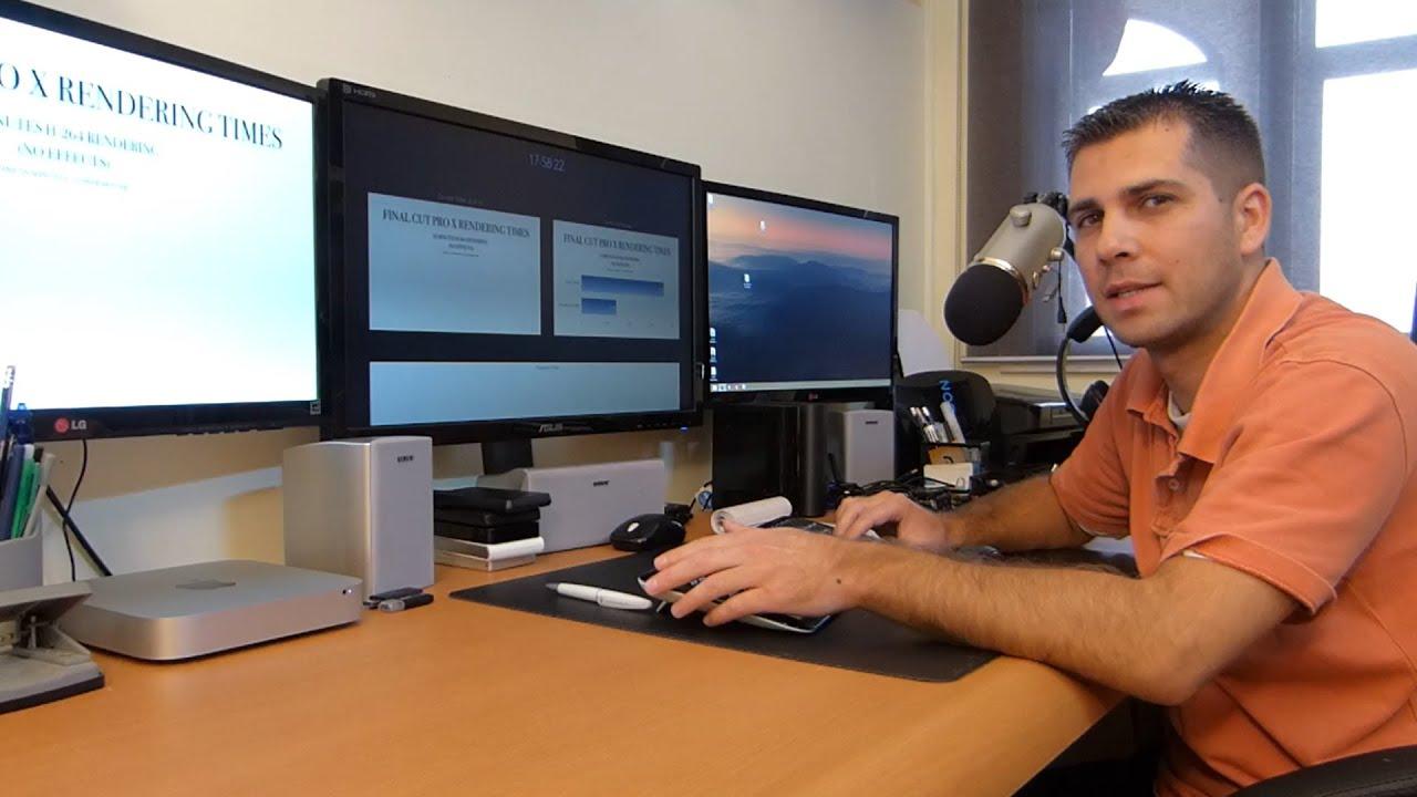Mac Mini Video Editing Final Cut Pro Performance Tests - YouTube