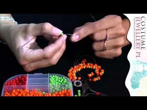 DIY - Kurs Biżuterii - Bardzo prosta bransoletka z koralików szklanych customjewellery.pl