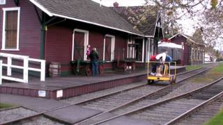 Human-powered railroad car workout