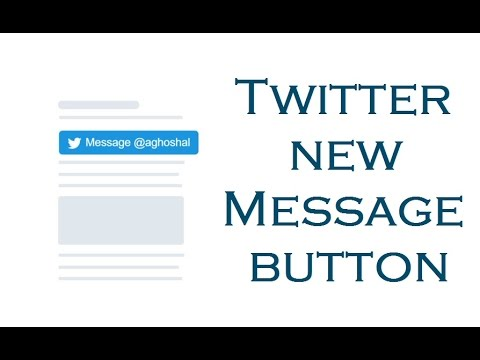 "Twitter new ""Message Button"" for the websites"