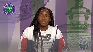 Coco Gauff Fourth Round Press Conference Wimbledon 2019
