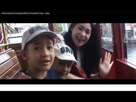 Andre taulany dan keluarga berlibur ke DisneySea Tokyo - Jepang