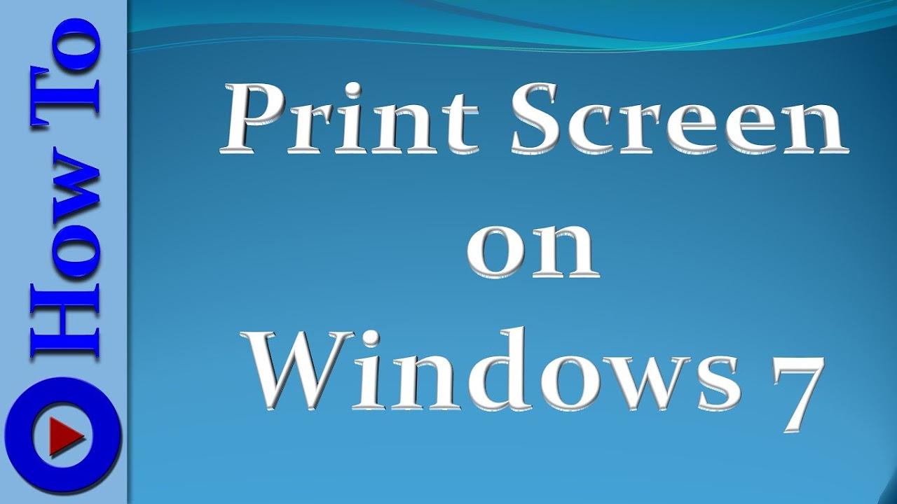 print screen on windows machine