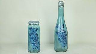 Reciclando Garrafa e Pote de Vidro / Decoração de Festa