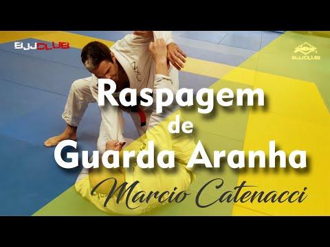 Raspagem da Guarda Aranha com Marcio Catenacci - Jiu Jitsu - BJJCLUB