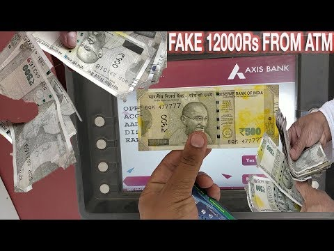 Received 12000 RS WASTED NOTES (Axis Bank ATM SCAM ) | New Delhi