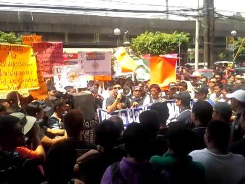 rally ng mga seaman!!! mahiya naman kayo opisyales ng MARINA