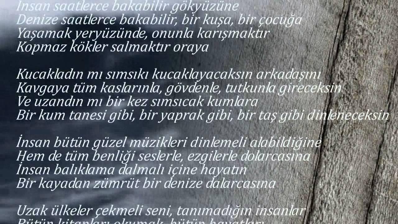 şiir Ataol Behramoğlu Yaşadıklarımdan öğrendiğim Bir şey Var