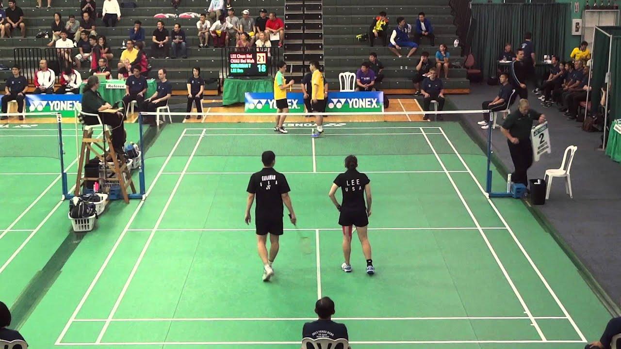 2013 US OPEN Badminton QF XD Chun Hei Lee [1] Hoi Wah Chau HKG