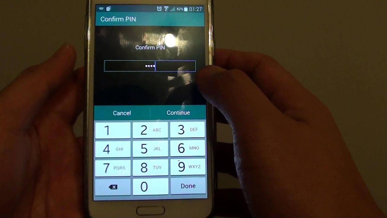 samsung galaxy private mode password