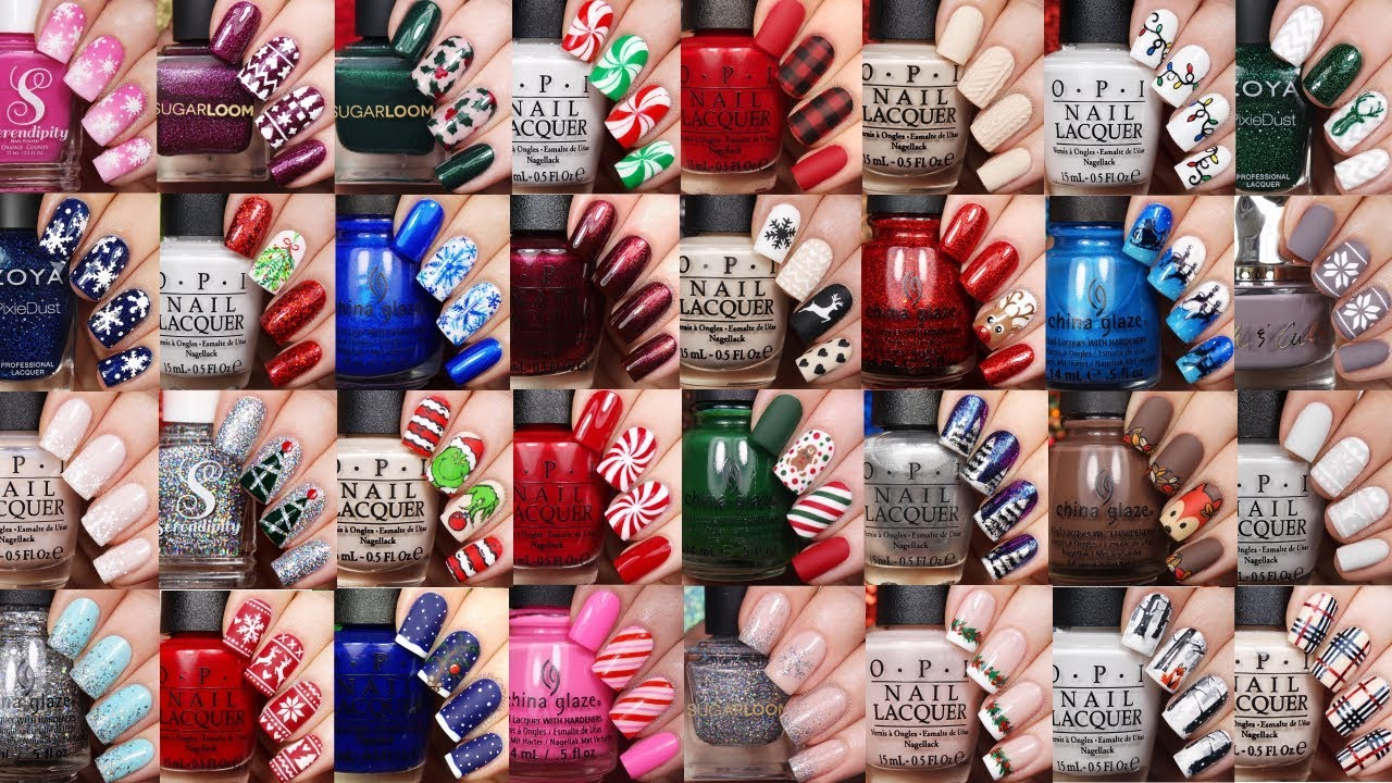 best christmas nail art ideas 40 fall and winter nail tutorials by nailsbycambria - Best Christmas Nail Design Ideas
