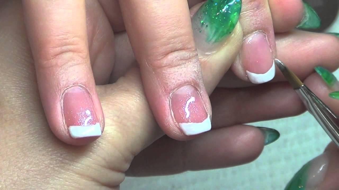 French Gel Manicure 2013 Akzentz Luxio - YouTube