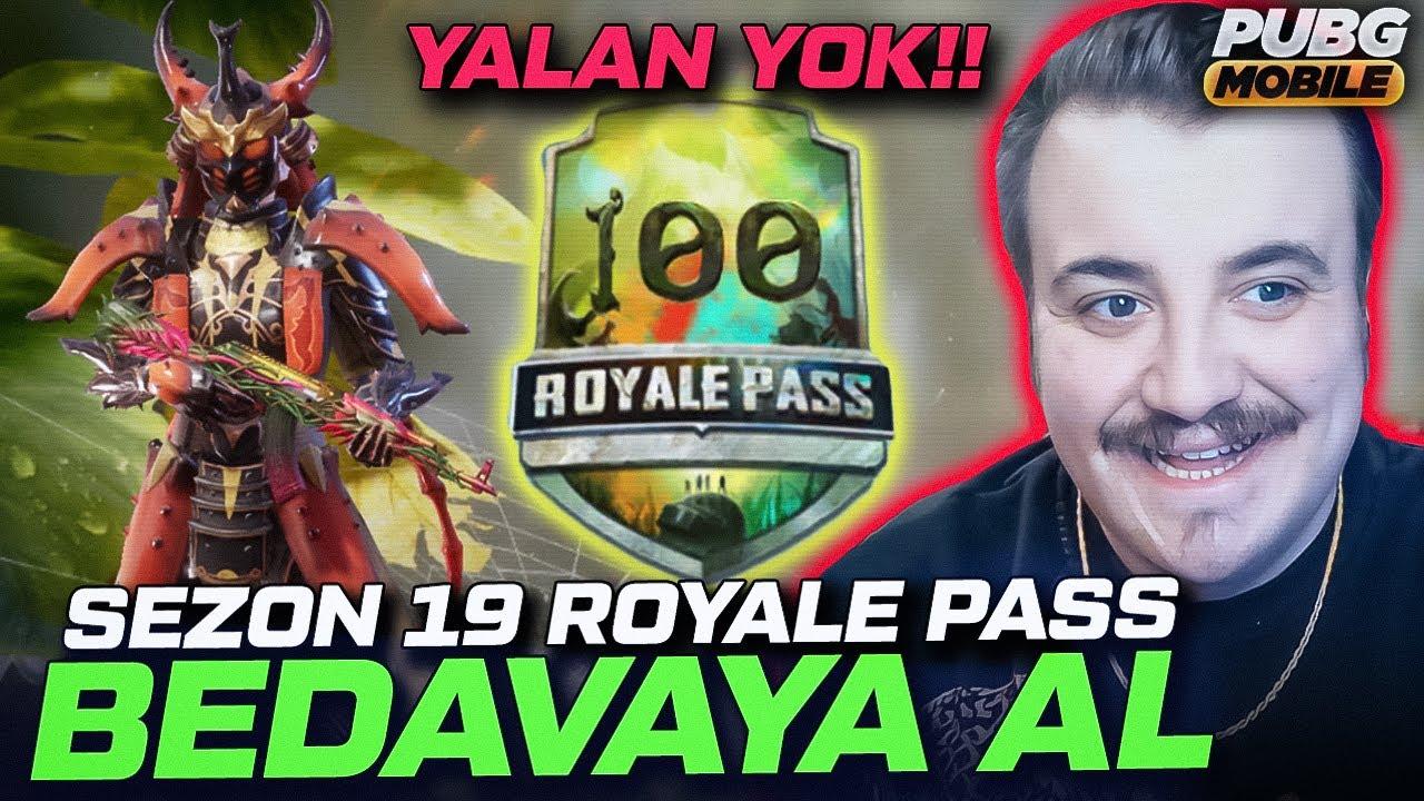 YALAN YOK BEDAVA 19. SEZON ROYALE PASS AL PUBG Mobile Game.tv