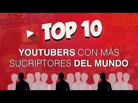10 YOUTUBERS con MAS SUSCRIPTORES del MUNDO 2018