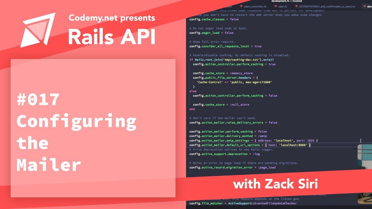Rails API: Configuring the Mailer - [017]