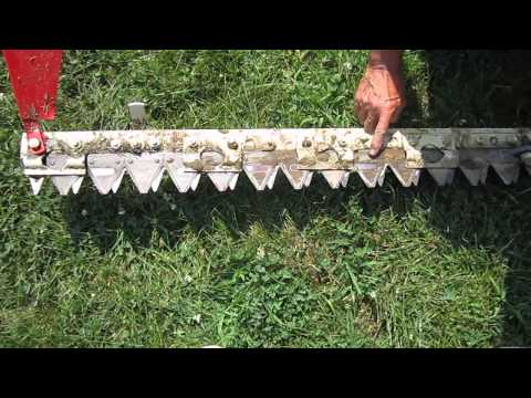 Haban Sickle Bar Mower Close-Up - YouTube